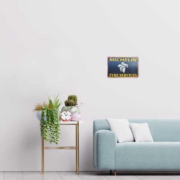 plaque publicitaire michelin decors