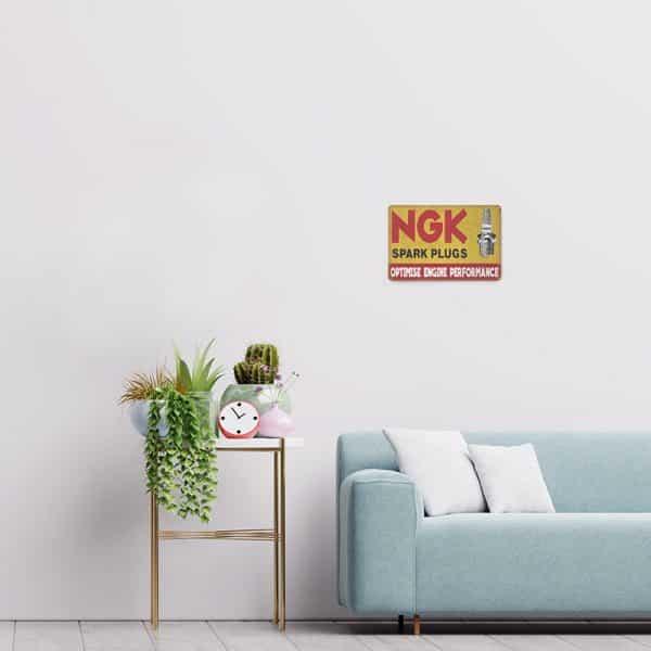 plaque publicitaire ngk decors