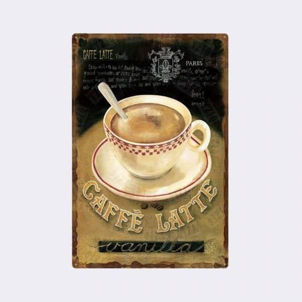 plaque vintage cafe 5