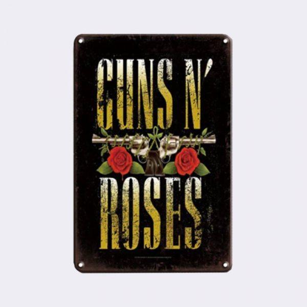 plaque métal vintage guns n roses