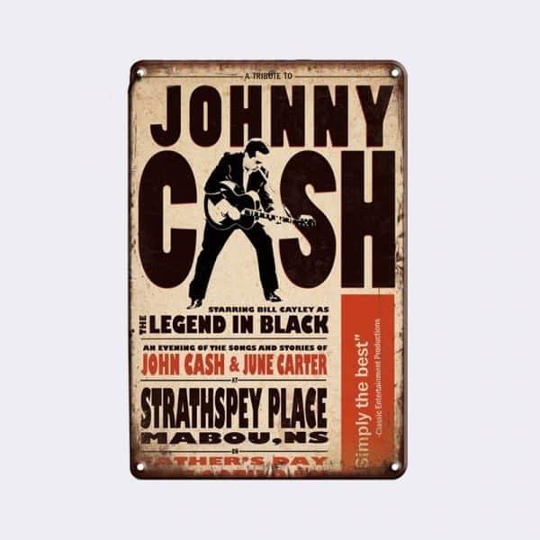 plaque métal vintage johnny cash