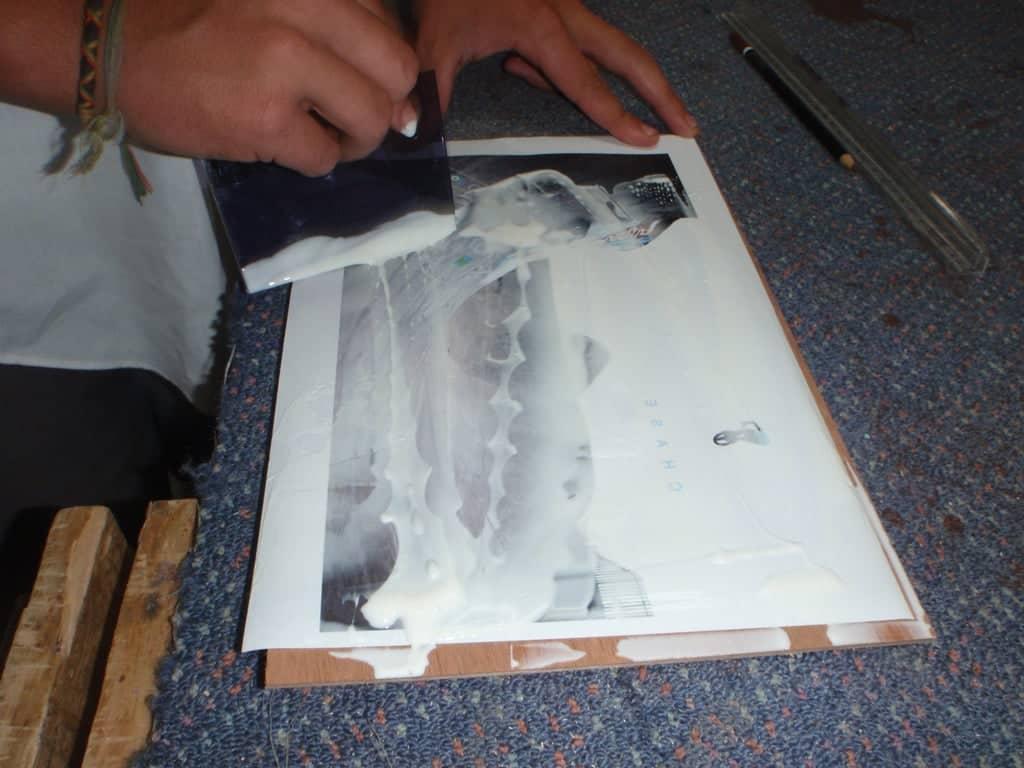 colle papier   Comment faire une plaque émaillée