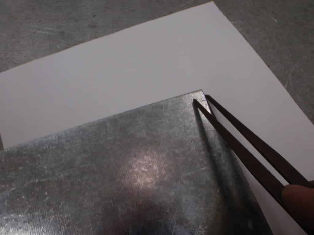 traçage plaque metal   Comment faire une plaque émaillée